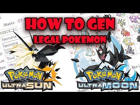How To PokeGen Legal Pokemon In Pokemon Ultra Sun and Ultra Moon