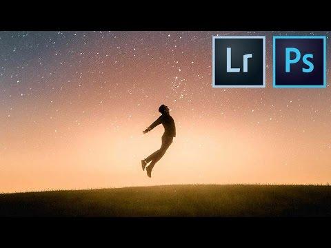 Photoshop Tutorial: Starry Sunset Composite Edit