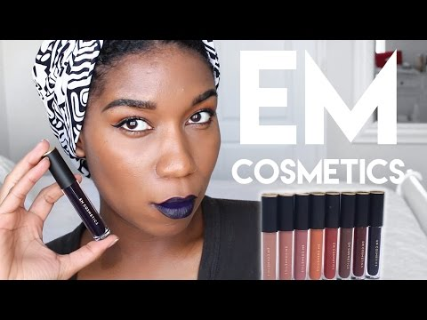 ALL 8 EM COSMETICS Infinite Lip Cloud Swatches on Dark Skin | NEW Re Launch Review 2017