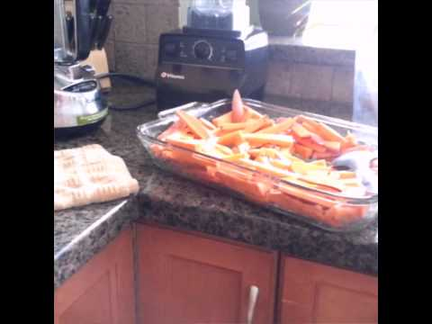 How to Make Baked Yam Fries - Cooking Yam Fries (Sweet Potatoes)