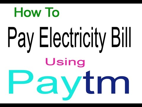 How to Pay Electricity Bill By Paytm .