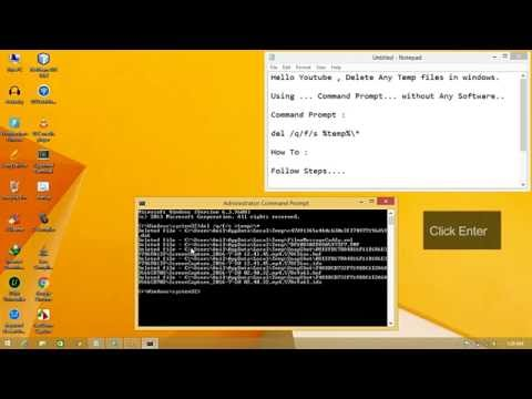 Delete Temp Files Using cmd Clean Temp files With Command