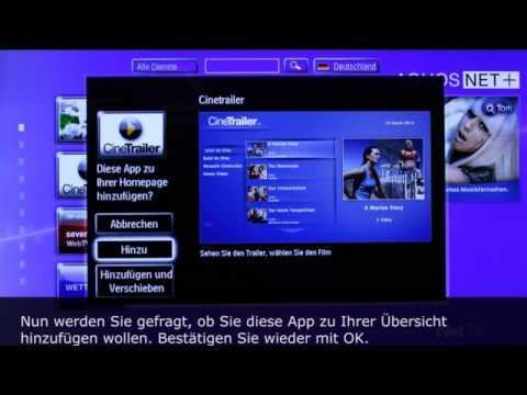 Sharp AQUOS LCD AQUOS-NET+ Anleitung und Funktionsbeschreibung