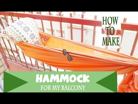 how to make a hammock in 1 min for your balcony, terrace or anywher with 2 basics things.DIY