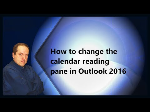 How to change the calendar reading pane in Outlook 2016