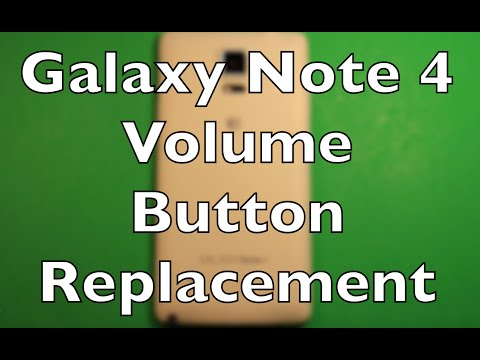 Galaxy Note 4 Volume Buttons Replacement How To Change