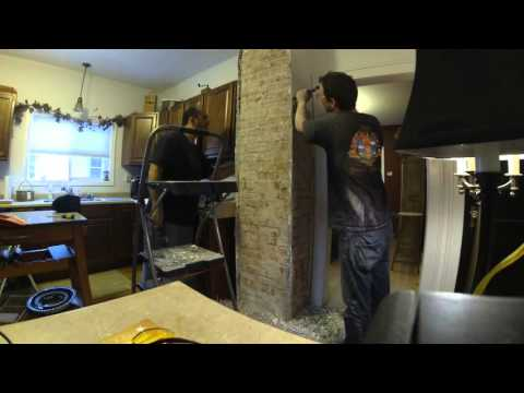 Exposing chimney brick TIME LAPSE
