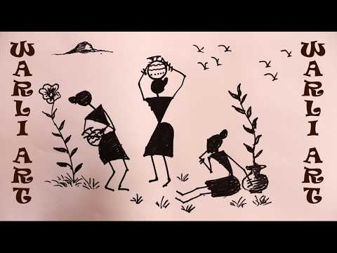 How To Draw WARLI ART By Praveen DL