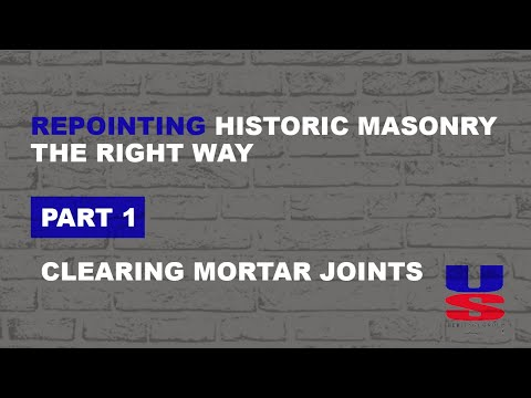 Repointing historic masonry the right way - Part 1 - Clearing Mortar Joints