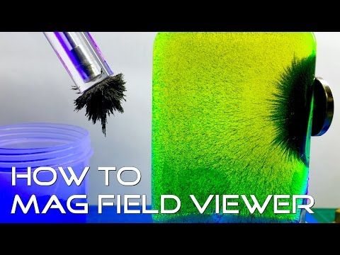How To: DIY Magnetic Field Line Viewer - How To See Magnetic Fields