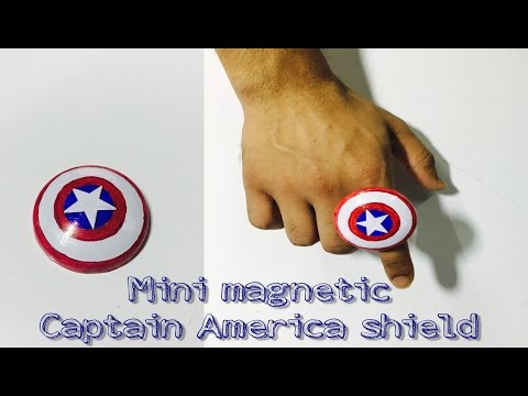 How to make a Mini Magnetic Captain America shield out of coca cola can.