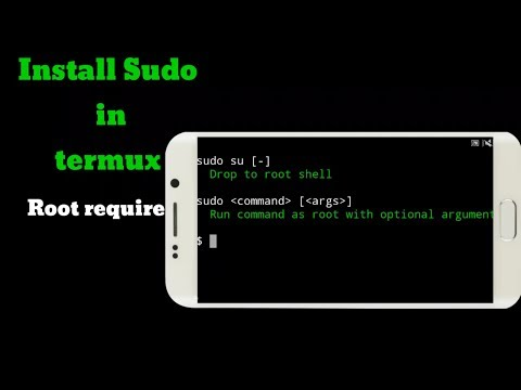 Install sudo install termux  [Root require]