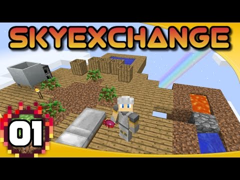 SkyExchange - Ep. 1: A Different Kind of Skyblock! | Minecraft 1.10.2 Skyblock Modpack