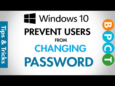 Windows 10- Prevent Users from Changing their Password