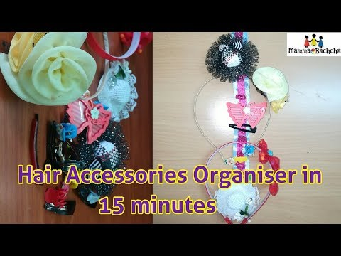 DIY Hair accessories Organizer| Headband Hairclip Hairpin organizer