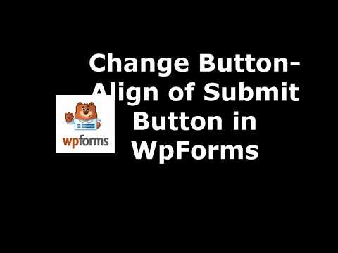 Free Tool to Set Submit Button Align in WpForms