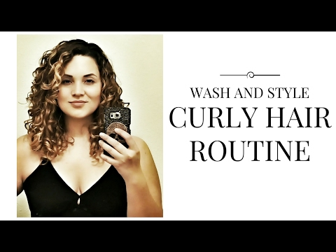 Wash & Style   Curly Hair Routine   Air dry routine   3a/3b type   Deva Curl