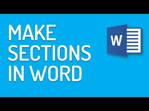 How to make sections in Word