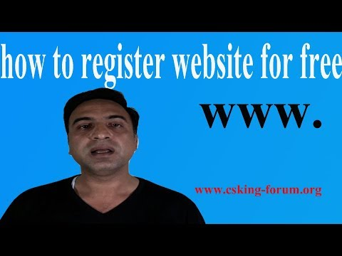 how to register website for free