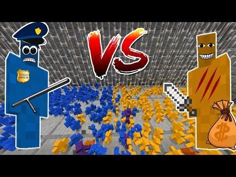 Minecraft PRISON RIOT CLAY SOLDIERS! • Cops VS Prisoners!