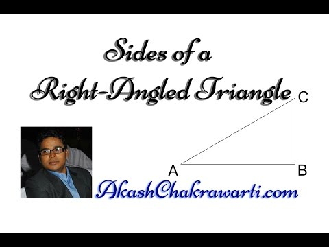 Naming the Sides of a Right-Angled Triangle - AkashChakrawarti.com