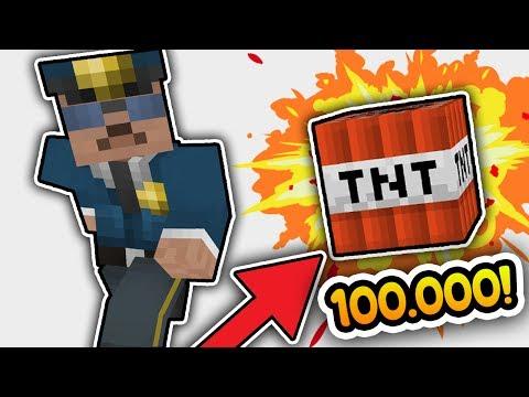 100,000 TNT VS POLİS VS MİNECRAFT