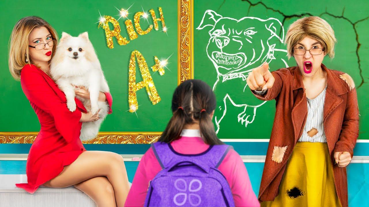 Rich Teacher vs Broke Teacher / 17 Funny Situations in School