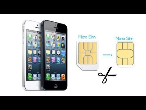 iPhone 5: How To Convert Micro SIM Card into Nano SIM Card