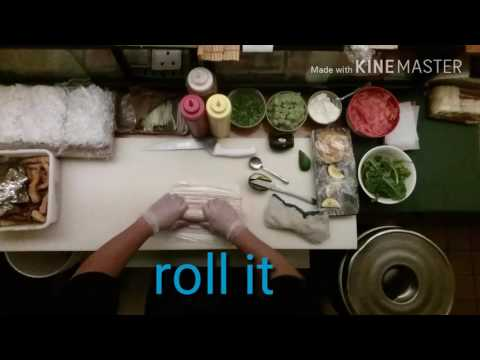 How to make a Volcano roll