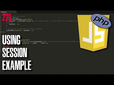 PHP Using session example and passing php variable to Javascript
