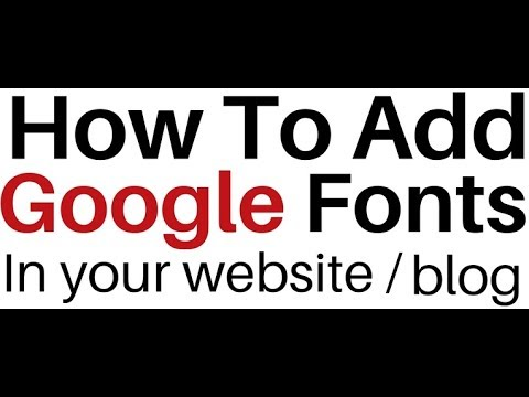 Google Font Styles URL Import Links Embed In Html Page And CSS