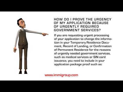 How do I prove the urgency of my application because of urgently required government services?