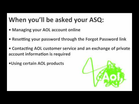 How to change or update your Account Security Question (ASQ)