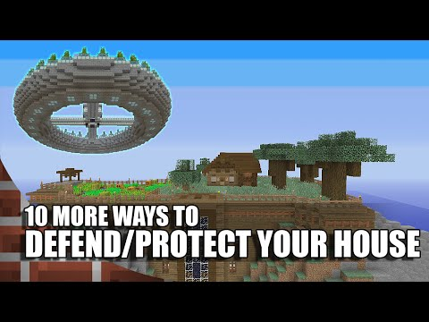 10 Ways To Defend/Protect Your House In Minecraft! (Episode 2)