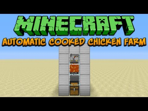 Minecraft: Automatic Cooked Chicken Farm Tutorial
