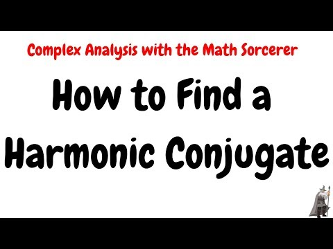 How to find a Harmonic Conjugate Complex Analysis