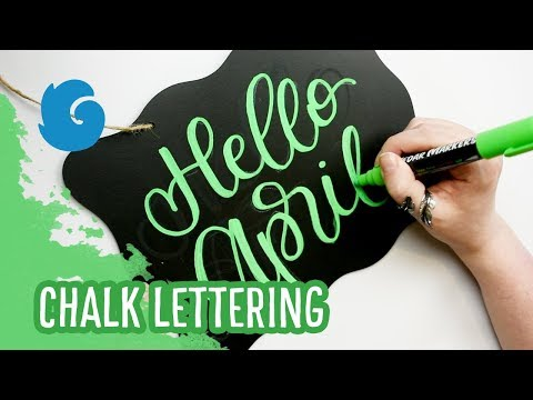 Hello April! Faux Calligraphy Chalk Lettering with Cedar Markers