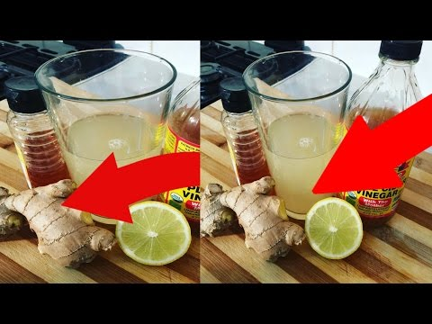 Flat Tummy With Apple Cider Vinegar Tea Lose Belly Fat In A Weekwith Ginger Lemon Honey
