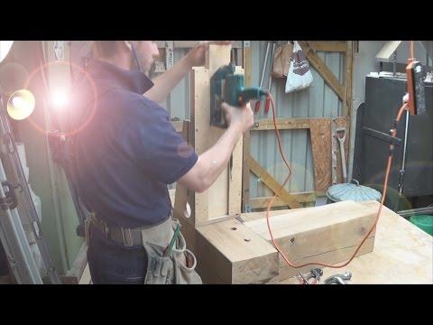 Timber Framing Mortise & Tenon Drawbore Break Down