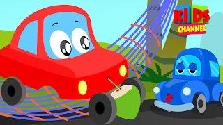 Little Red Car | lazy car rhymes | Car Rhymes For Children
