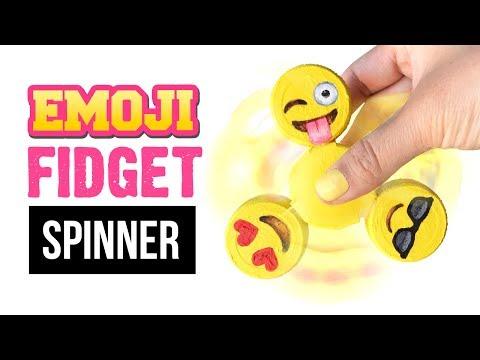 EASIEST DIY FIDGET SPINNER Tutorial!!! DIY Emoji Spinner Toy WITHOUT Bearings!