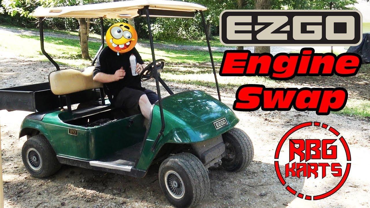 EzGo Electric Golf Cart DuroMax 18hp Engine Swap Ep1