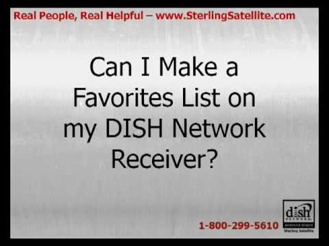 Can I Make a Favorites List On My DISH Network Receiver?