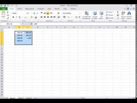How to set Rupee as default currency in Excel (2007, 2010)