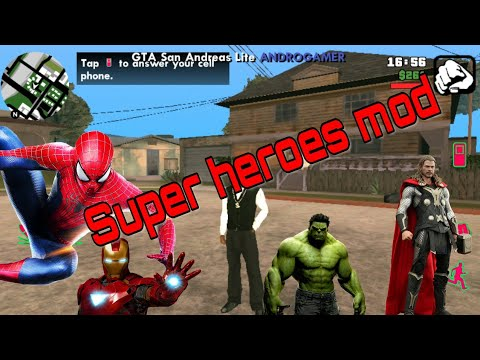 (No Root)How To Get Super Heros In Gta SA Android Hulk,Spider-Man,Batman,Super-Man Etc(Hindi/Urdu)