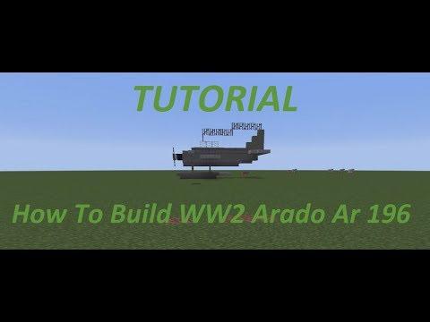 Minecraft Tutorial How To Build WW2 Arado Ar 196