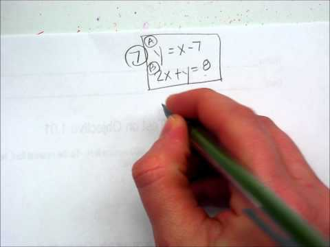 Solving Systems of Equations by Substitution.wmv