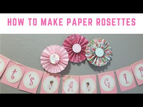 How To Make Paper Fans or Paper Rosettes