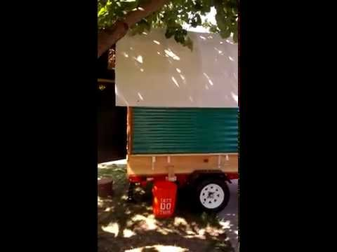 Tiny Gypsy covered wagon trailer! Light camper