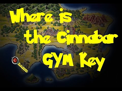 Where Is: The Cinnabar GYM Key (Secret Key) (Pokemon Blue/Red/Yellow)